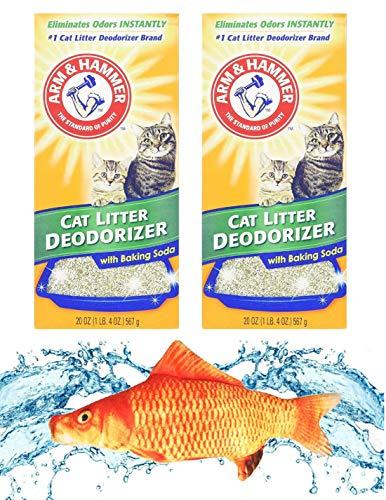 Kitti Variety Pack Bundle Including (1) 7.5' Triple Strength Catnip Toys and (2) Arm & Hammer Cat Litter Deodorizing Powder w/Baking Soda, 20oz Boxes