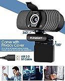 Zoom IMG-2 elegiant webcam web camera 1080p