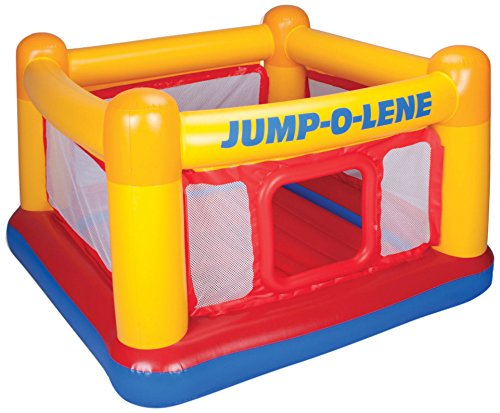 Intex Playhouse Jump-O-Lene Inflatable Bouncer, 68' X 68' X 44', for Ages 3-6
