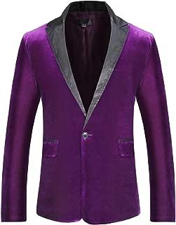 Sodossny-AU Mens Fashion Slim Solid One Button Casual Blazer Jacket Coat
