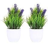 Fiori artificiali in vaso bianco, piante finte, decorazioni per casa, ufficio, matrimoni, con vasi bianchi, per decorare la casa o l'ufficio, come regalo per la casa e gli amici (NO.3)