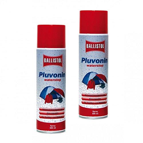 BALLISTOL 25010 PLUVONIN Verdeck- & Textil-Imprägnierung Spray Nässeschutz 1 L