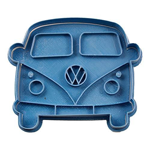 Cuticuter Volkswagen Front-Plätzchenausstecher, Blau, 8 x 7 x 1,5 cm
