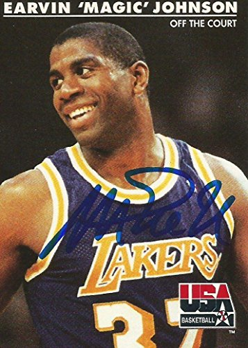 Sale!! 1992 Skybox USA LA Lakers Magic Johnson #32 Signed Auto Card IN PERSON PROOF - Basketball Aut...