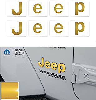 Reflective Concepts JEEP Fender Emblem Overlay Decal Stickers - 2018 2019 Wrangler JL - (Color: Reflective Gold)