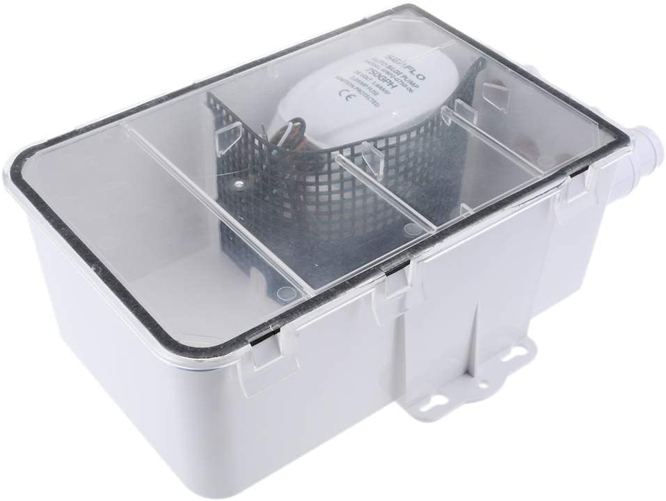 HALOHU Mail order 600GPH 24V Shower Sump Pump Auto Box Drain Bilge A System famous