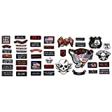 Live To Ride 42pc Embroidered Motorcycle Patch Set