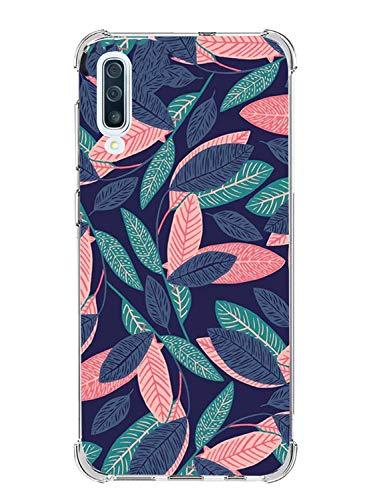 Oihxse Compatible pour Coque Transparent Samsung Galaxy J2 Core Ultra Mince TPU Silicone Souple Housse Fine Mignon Motif Dessin Bumper Anti-Scratch Protection Etui Case Cover (Feuille d'érable)