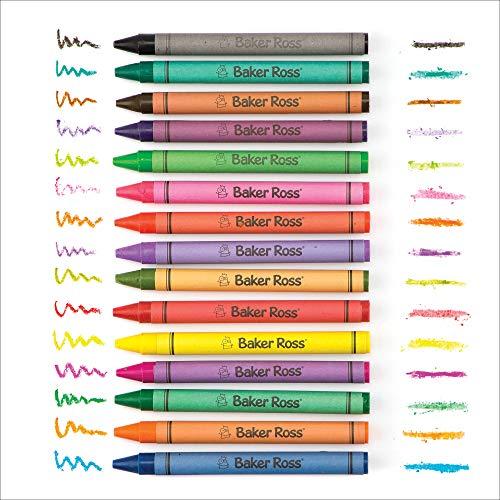 Baker Ross Paquet économique de crayons de cire (lot de 96) - Matériel créatif pour activités manuelles