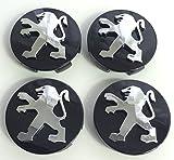 4PAC Hohe Qualität 60mm Legierung Badge Logo Emblem Hub Abdeckkappen Alufelgen Mitte Nabenkappen Nabendeckel Kappen Radkappen felgendeckel