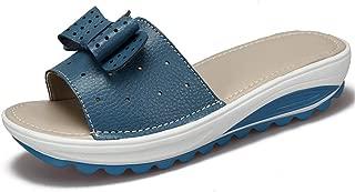 SHANLEE Women Girls Ladies Summer Flat Slippers,Floral Flip Flop Open Toe Indoor Outdoor Beach Sandals