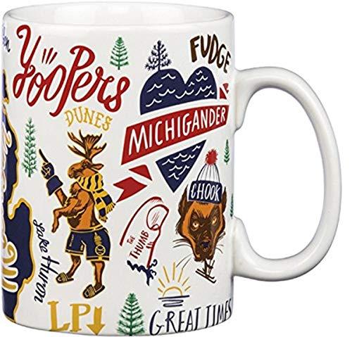 Primitives by Kathy Stoneware Kaffeebecher, Michigan, Coffee Mug