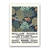 Cuadro de pared de obra de arte de William Morris Vintage, impresiones y carteles de exposición abstracta, pintura de lienzo sin marco familiar C 60x90cm