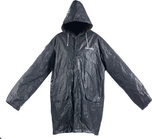PEARL Faltbare Regenjacke: Extrakompakte Regenjacke, XL/XXL, mit Tasche, 100% Eva, schwarz (Regenjacke faltbar Gürteltasche)