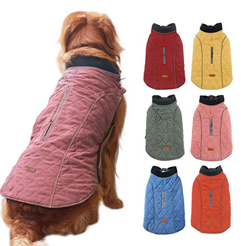 EMUST Dog Winter Jackets, Small/Medium/Large Dog Coat for Winter, French Bulldog Clothes for Dogs, Winter Jacket for Large Dogs, XL