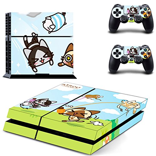 qKonsole PS4 Skin Cute Anime Designfolie Sticker Playstation 4 Vinyl Schutzfolie - Matt