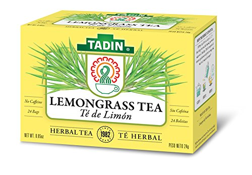 Tadin Herb & Tea Co. Lemongrass Herbal Tea, Caffeine Free, 24 Tea Bags, Pack of 6