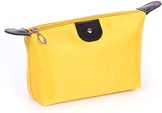 Korean Fashion Waterproof Nylon Women Makeup Cosmetic Bags Dust-Proof Travel Business Use Beauty Toiletry Bag Organizer-Yellow-1 Size
