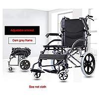 ハンドブレーキ付き車椅子、軽量で折り畳み可能なフレーム、ポータブルトランジットトラベルチェア、標準、重量わずか11.5kg,D