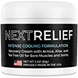 NextRelief Cooling Pain Relief Cream - [3 Oz] USA Made with Arnica, Aloe, Tea Tree Oil, More - Feels...