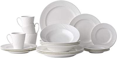 Hankook Chinaware Lohas Dinnerware Set Fine Bone China Chinaware White (LOHAS_20pcs)
