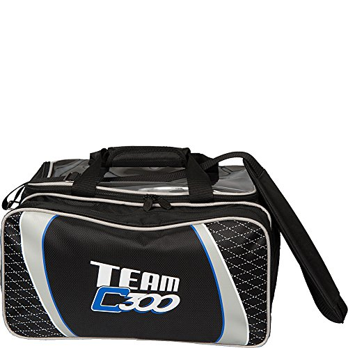 Columbia 300 Beutel Team C300 Double Bowling Tote, Unisex, Team Double Tote, schwarz/Silber