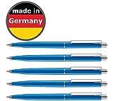 [page_title]-50 Stück Kugelschreiber blau allpremio® Qualität – Mine BLAU Strichstärke M – dokumentenecht nach ISO 12757-2 – Sparpack Druckkugelschreiber mit Metall Clip nachfüllbar