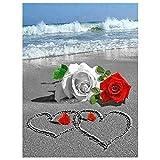 Sunnay Diamond Painting Rose 5D Diamond Painting Painting - Accesorios para cuadro de fotos (tamaño grande, 30 x 40 cm)
