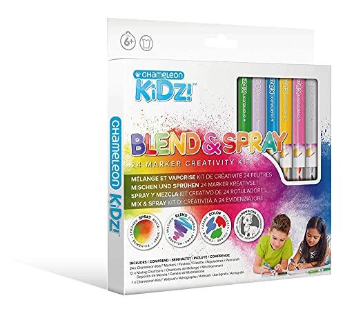 Chameleon Kidz Blend & Spray 24 Marker Creativity Kit
