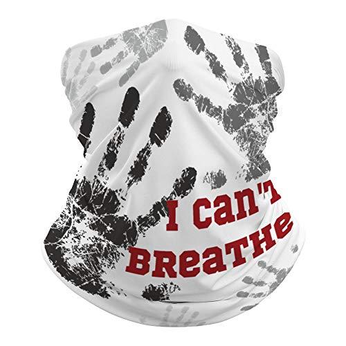 I Cant Breathe bufanda versátil para la cabeza de la boca de la cara con las manos en la parte delantera impresa mágica escudo hippie tiro cuello polainas para polvo - Resistente al sol al aire libre 19.6'Lx9.8' W l4pmhkz3tm2c