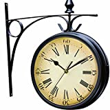 Wetterfeste Retro-Garten-Uhr für draußen im Design Paddington-Station