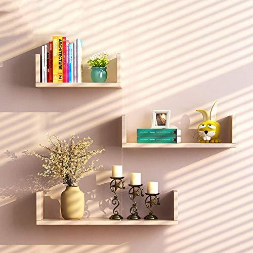QSAA wandmontage zwevende planken wandplank wandplank wandplank zwevende planken wandplank zwevende plank wandplank display tv achtergrond wanddecoratie U-vormig rek hoekscheidingswandrek