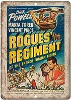Dick Powell Rogues Regiment ティンサイン ポスター ン サイン プレート ブリキ看板 ホーム バーために