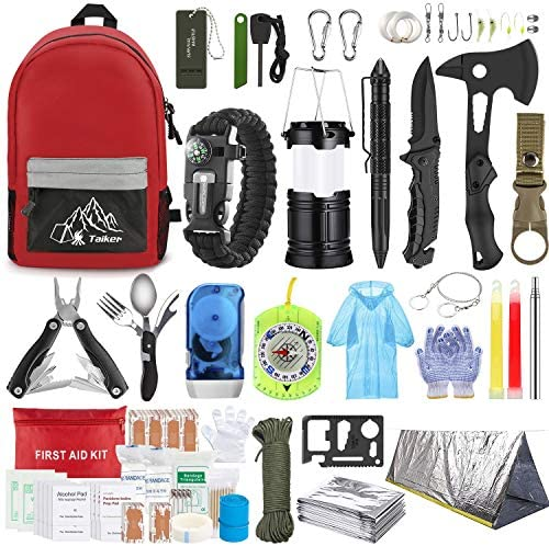 Emergency Survival Kit 151 Pcs Survival Gear First Aid Kit Outdoor Trauma Bag with Tactical product image