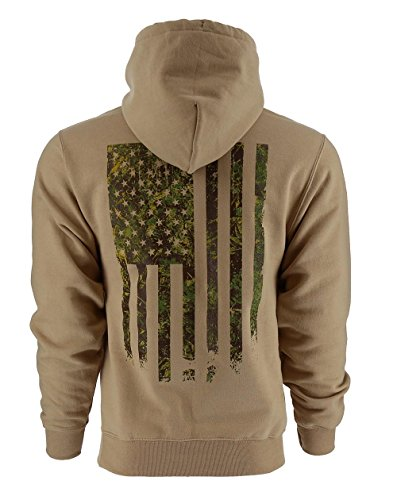 Grunt Style Outdoors - Camo Flag Hoodie, Color Woodland, Size XXX-Large