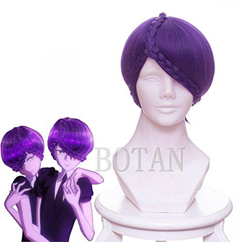 BOTAN コスプレウィッグ ◆ 宝石の国 アメシスト 紫水晶 風 ウィッグ+おまけ イベント コスチューム 学園際文化際道具 (84)