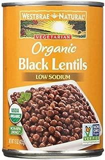 Westbrae Natural Organic Black Lentils, 15 Ounce (Pack of 12)