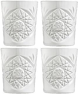 Libbey - Hobstar - Whiskyglas, Wasserglas, Saftglas, Glas - 4er Set - 350 ml - Kristallglas - Weiß