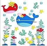 Wandtattoos Kinder Küche Hintergrund Decke Cartoon Welt Unter Dem Seefisch Schule Tapete Kindergarten Diy Wohnzimmer Schlafzimmer