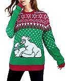 Weiße Lamas Weihnachtspulli