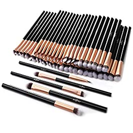 50pcs Eye Makeup Brush – Anjou 5pcs Eye Makeup Brushes X 10 Set – 2 Eye Blending Brush, 2 Eyeshadow Brush, 1 Eyeliner Brush Included in Each Set – 5 Essential Eye Brushes for Your Flawless Look