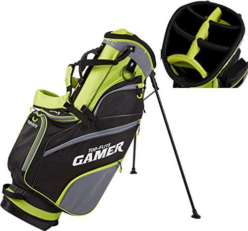 2019 Top-Flite Gamer Golf Stand Bag 7-Way Top 7 Pockets Mesh Carry Strap Beverage Cooling (Volt/Black)