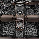 Alfombrillas de Coche para BMW 7 Series 2004-2008 Antideslizantes Impermeable Rodeado Completo Protección para Todo Clima Revestimientos De Alfombra De Cuero Alfombrilla (Negro)