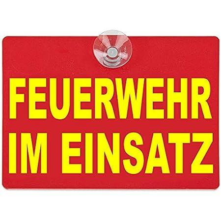 Paco Deutschland E K Warnschild Feuerwehr Im Einsatz 20x15cm Rot Auto