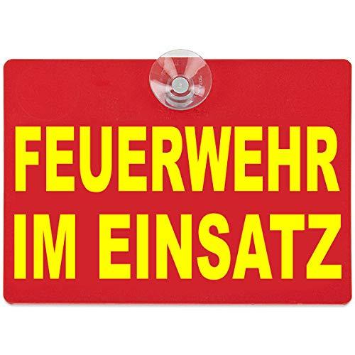 PACO Deutschland e.K. Warnschild Feuerwehr im Einsatz 20x15cm rot