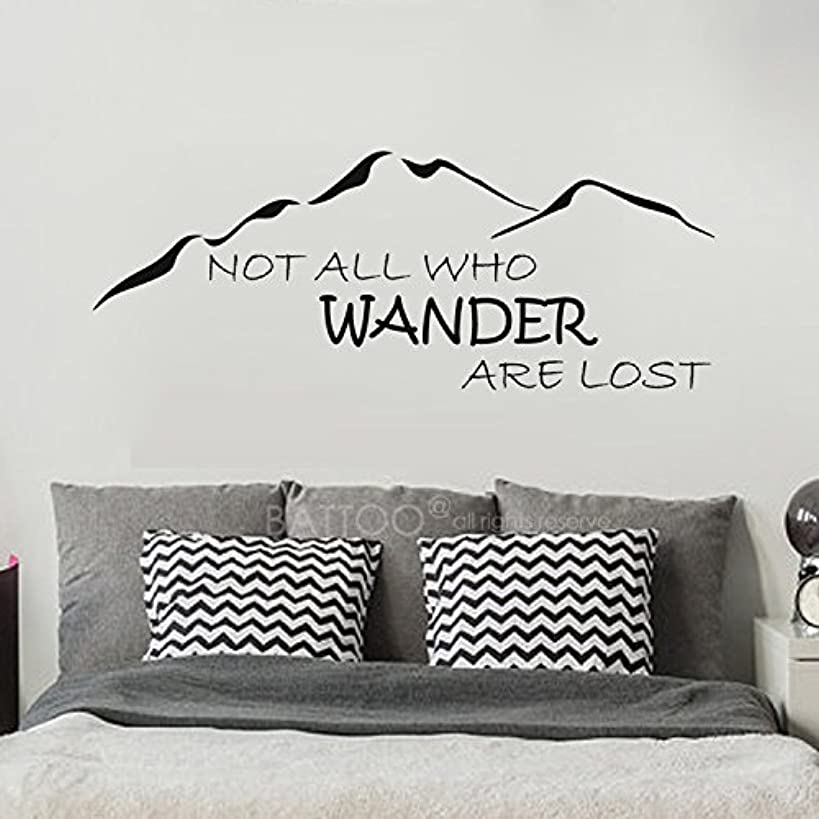 BATTOO Not All Who Wander Are Lost Wall Decal Mountain Vinyl Sticker 40