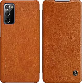 For Samsung S20 FE Nillkin Filp Qin Leather Case Cover - Brown