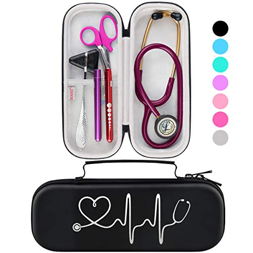 Affordable BOVKE Travel Carrying Case for 3M Littmann Classic III Stethoscope - Extra Room for Taylo...