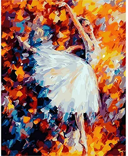 Painting By Numbers DIY DIY digital painting Frame Ballerina Girl Schilderen Op Nummer-40x50cm-With Frame