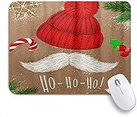 NIESIKKLAマウスパッド クリスマスツリー帽子口ひげHoキャンディクッキー ゲーミング オフィス最適 高級感 おしゃれ 防水 耐久性が良い 滑り止めゴム底 ゲーミングなど適用 用ノートブックコンピュータマウスマット